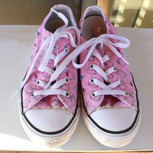 CONVERSE x HELLO KITTY Kids Pink Sneakers